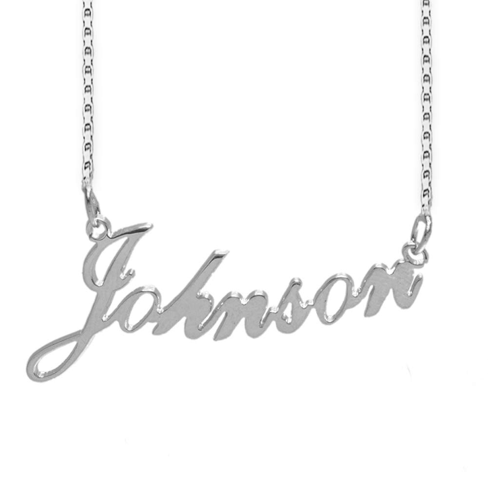 Lutilo 925 Sterling Sliver Custom Name Necklace Personalized Initial Necklaces Pendant Jewelry Gift for Her