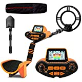 SUNPOW Professional Metal Detector for Adults, Adjustable Groud Balance, Disc & Notch & Pinpoint Modes, Upgraded DSP Chip, Multiple Audio Prompts