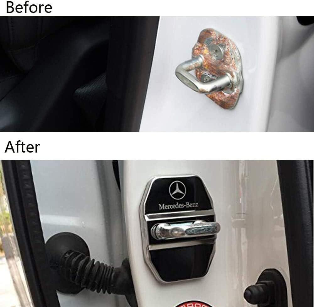 Cubierta de protecci/ón de Tapa de Hebilla Striker Accesorios para autom/óviles NA Cubiertas de Cerradura de Puerta de Coche 4Pcs para Mercedes GLK-Class,S-Class Maybach,A//C//CLA//GLA//G//M//S//SL-Class AMG
