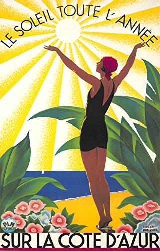 Cote d'Azur - Le Soleil Toute l'Annee Vintage Poster (artist: Broders, Roger) France c. 1931 (16x24 Collectible Giclee Gallery Print, Wall Decor Travel Poster)