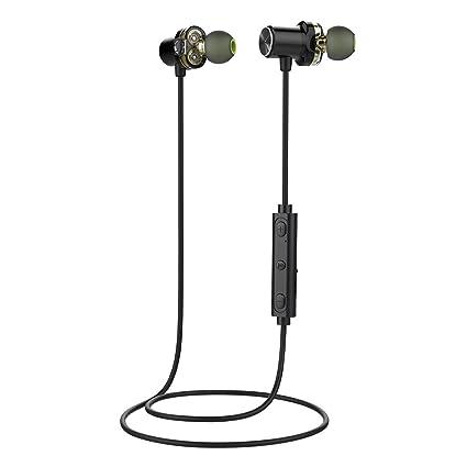 HJYQ Auriculares Inalámbricos Bluetooth Auriculares Magnéticos Ligeros En La Oreja Deportes Con Micrófono IPX5 Impermeable Sweatproof