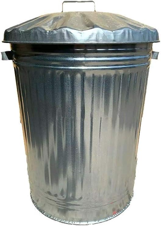 90 litros Extra grande 90L de Metal galvanizado cubo de la basura cocina casa cubo unidad de almacenamiento de jardín: Amazon.es: Hogar