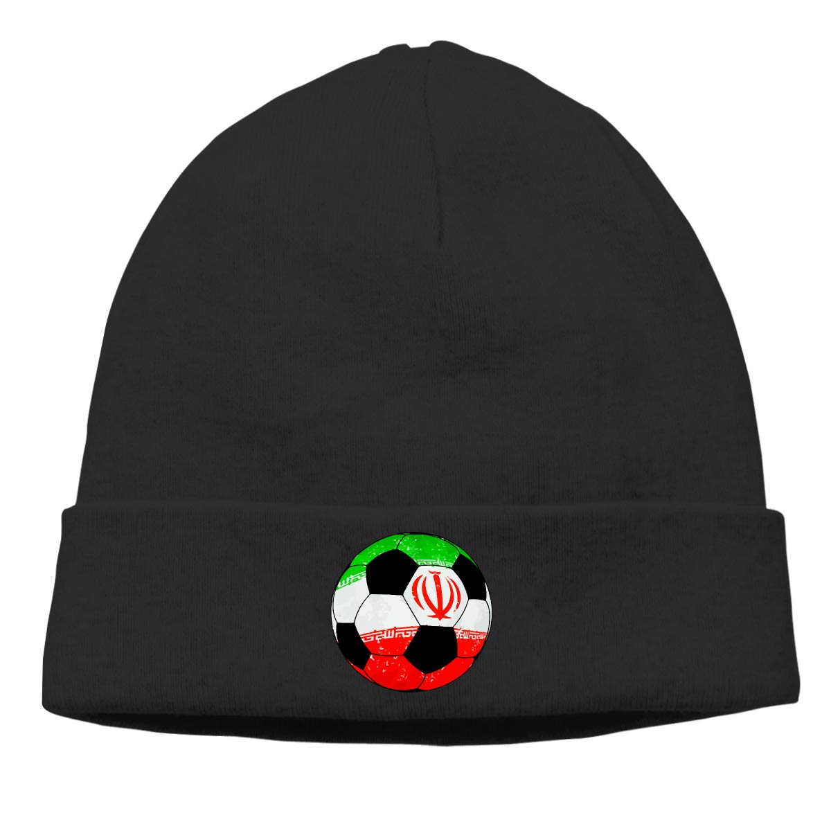 Iran Football Soccer Unisex Solid Color Beanie Hat Stretchy /& Soft Winter Cap Thin