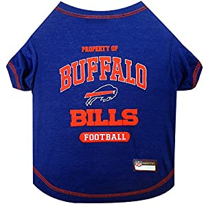 PET SHIRT for Dogs & Cats - NFL BUFFALO BILLS Dog T-Shirt, Large. - Cutest Pet Tee Shirt for the real sporty pup