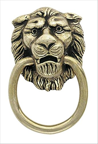 Amerock Traditional Classics Lion Head Ring Pulls - Antiqued Brass ()