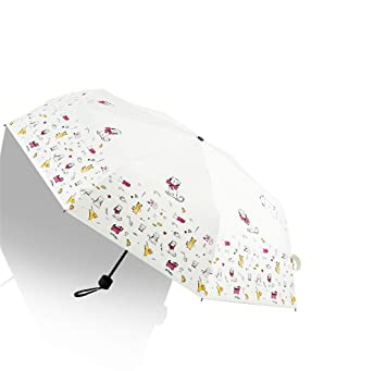 Sabarry UV Funda Pantalla Grande Paraguas automático bastón Pantalla Mujer Niños – Resistente al Viento Double