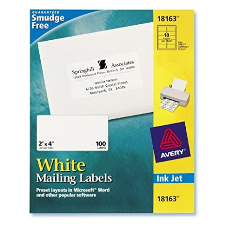 amazon com avery 18163 18163 white mailing labels 10 sheets