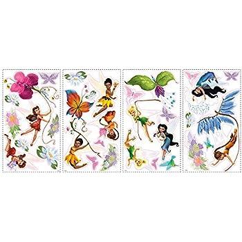 Amazon.com: Roommates Rmk1493Scs Disney Fairies Wall Decals With ...