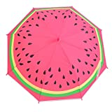 Hook Handle Auto Open Cartoon Umbrella for Children,with Whistle (Pattern07)