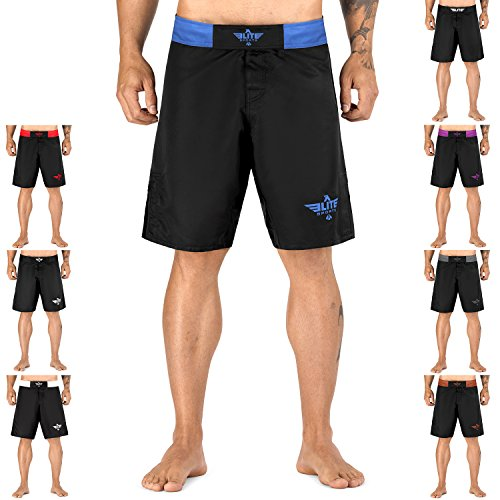 Elite Sports Black Jack Series Fight Shorts - UFC, MMA, BJJ, Muay Thai, WOD, No-Gi, Kickboxing, Boxing Shorts