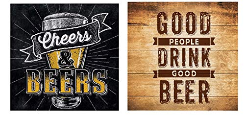 Olive Occasions Home Bar Cheers and Beers 20 Count and Good People Drink Good Beer 20 Count Beverage Napkins