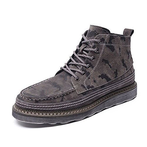 Men's Shoes Feifei Winter Retro Camo Keep Warm High Help Cotton Shoes 3 Colors (Color : 02, Size : EU43/UK9/CN44)