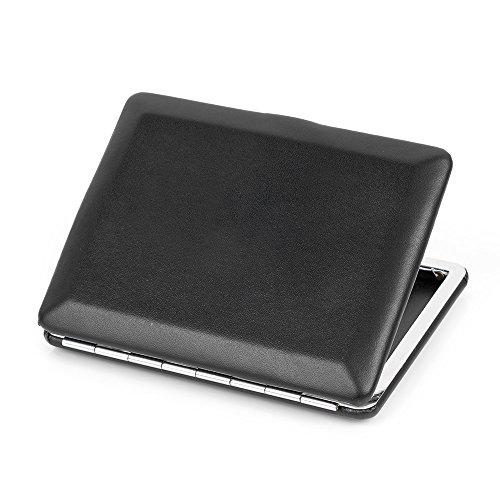 Metal Ultra Leather Cigarettes Box 8 Case thin Black Cigarette Holder Plain Holds xSSBITq