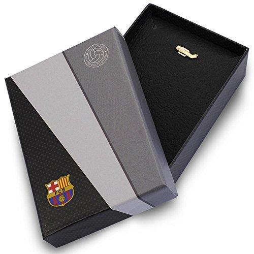Parchemin pendentif bouclier F.C. Barcelone 9k or grande loi [AA1892GR] - personnalisable - ENREGISTREMENT inclus dans le prix