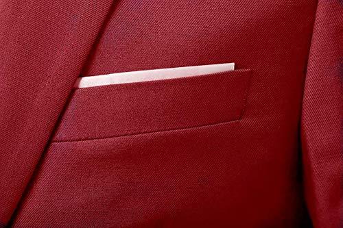 Slim Da Tre Pezzi Smoking In Giacca Red Tuta Formale Vestibilità Uomo Cdss Gilet C5Hq0wO
