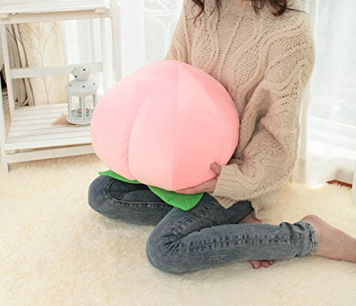 best CoCoMe Cute Big Pink Peach Shaped Throw Pillows Waist Rest Cushion Stuffed Toy Doll For Bedroom Office Car Best Birthday Gift For Kids Friends