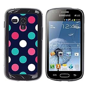 For Samsung Galaxy S Duos / S7562 Case , Dot Navy Blue Pink Orange Teal - Diseño Patrón Teléfono Caso Cubierta Case Bumper Duro Protección Case Cover Funda
