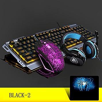 L&Y Teclados para Gamers Juego Teclado Cable USB, Mouse Teclado de Oficina Teclado Profesional Internet