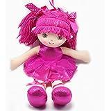 """Smilesky Ballerina Dolls Plush Soft Toys Dance Recital Best Gifts for Girls Rose 15.5"""""""