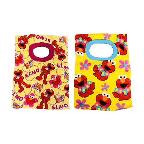 - Sesame Street Elmo Baby Bibs- 2 Piece Pack (Yellow Pattern/Stripes Elmo)...