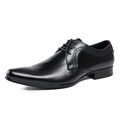 UNbox Mens Modern Classic Leather Lined Oxford Dress Shoes