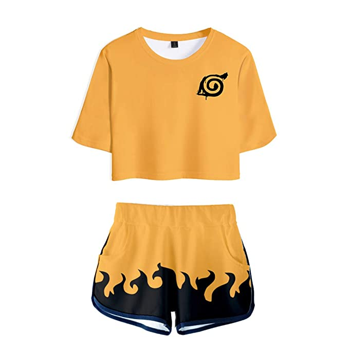 Amazon.com: Memoryee 3D Digital Anime Naruto Crop Top ...