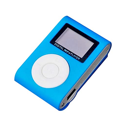 Julyfun Mini Metal MP3 Soporte Micro SD TF Reproductor Multimedia USB Música aleatoria para Deportes y Correr Reproductor de MP3 Pantalla LCD Soporte ...
