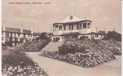 ANTIGUA POSTAL - OLD POST CARD : ALGECIRAS - Hotel Reina ...