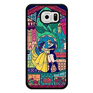 Galaxy S6 Case, Customized Black Soft Rubber TPU Galaxy S6 Case, Disney Beauty and The Beast Galaxy S6 Case(Not Fit Galaxy S6 Edge)
