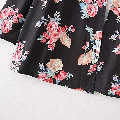 Donna Pullover Casual In Cappotto Color Schwarz Monocromo Moda S Top Maglia marca Cardigan Size Comodo Pulsante di Moda A Manica Primaverile Mode Maglia Lunga Elegante Giovane dRBBqwOx6