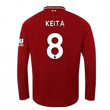 UKSoccershop Camiseta de Manga Larga de fútbol de Liverpool 2018 ...