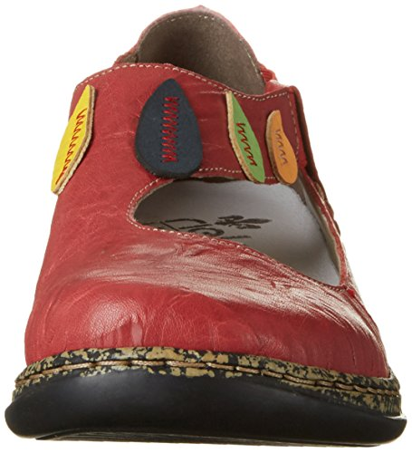 Rieker 46373, Bailarinas para Mujer Rojo (Rosso/yellow/pazifik/limette/aperol / 35)