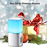 DiKaou Touch Bedside Lamp with Led Bluetooth Speaker, Night Light Bluetooth Speaker Built-in Micro SD Card, Aux, Dimmable Warm White Table Lamp & RGB Color Changing, Best Gift