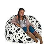 Cozy Sack 4-Feet Bean Bag Chair, Large, Cow Print
