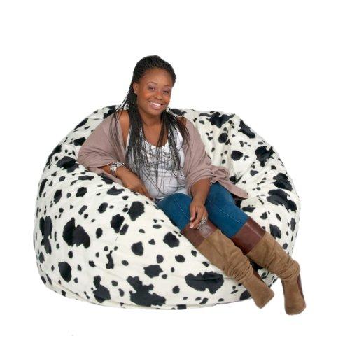 Cozy Sack 4-Feet Bean Bag Chair, Large, Cow Print by Cozy Sack