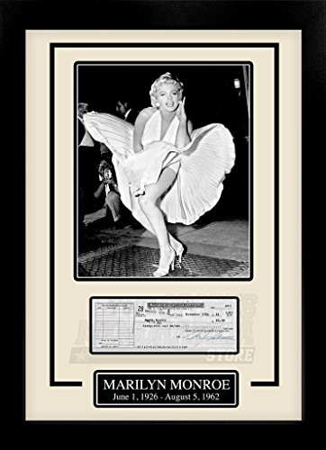 Marilyn Monroe Facsimile Signed Autographed Personal Check Framed 8x10 Display