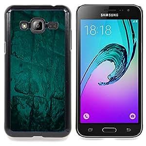 Abstract Green Glow Caja protectora de pl??stico duro Dise?¡Àado King Case For Samsung Galaxy J3