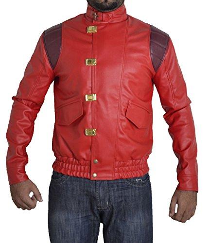 Faux Original Xxs Sizes Men's Akira Leather Red Manga Jacket 5xl V1 Bskull wqSX7w