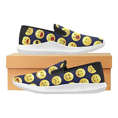 Interestprint Loafer Slip På Skor Kvinnor Duk Mode Sneakers Multi 7