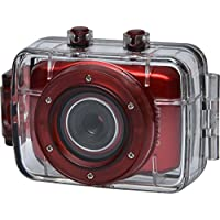 Vivitar DVR781HD HD Waterproof Action Video Camera Camcorder (Red) with Helmet & Bike Mounts
