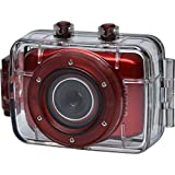 Vivitar DVR781HD HD Waterproof Action Video Camera Camcorder (Red) with Helmet & Bike Mounts