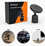 Qi Car Wireless Charger Pad with Air Vent Mount Universal Portable Charging Base for iPhone Samsung Qi Wireless Charger Devices - Qi Car Charger - Quick Charge - No Magnet needed