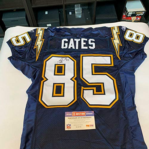 Antonio Gates Signed 2004 Game Issued San Diego Chargers Jersey COA - PSA/DNA Certified - Autographed NFL Jerseys ()