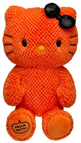 Hello Kitty Build A Bear ORANGE Limited Edition Halloween Plush In Box With -