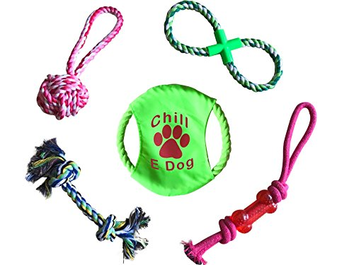 Dog Chew Toys for Small to Medium Dogs, Includes Frisbee and Rope Toys