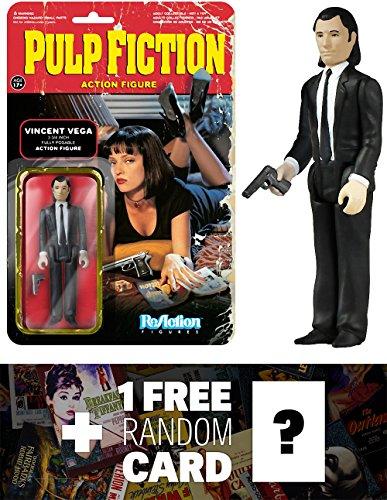 Vincent Vega: Funko ReAction x Pulp Fiction Action Figure + 1 FREE Classic Movie Trading Card Bundle (040826)