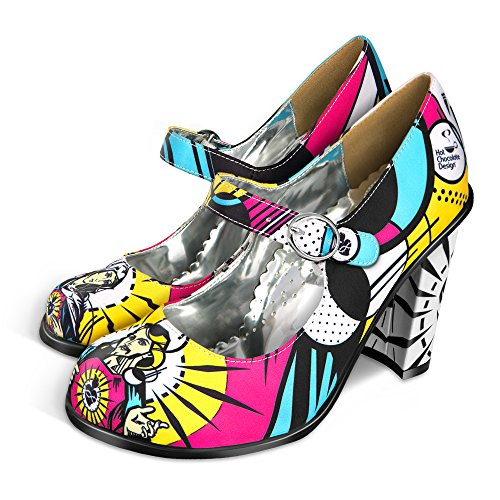 Hot Chocolate Design Chocolaticas High Heels Holly Pop Donna Mary Jane Pump Multicolore