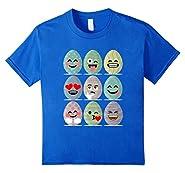 Easter Emoji T-Shirt Funny Easter Egg Faces Shirt