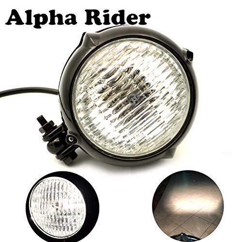 New Vintage Antique Style Hi/Lo Beam Motorcycle Headlight Head Light Front Lamp Retro Cafe Racer Bobber Bike Cruiser