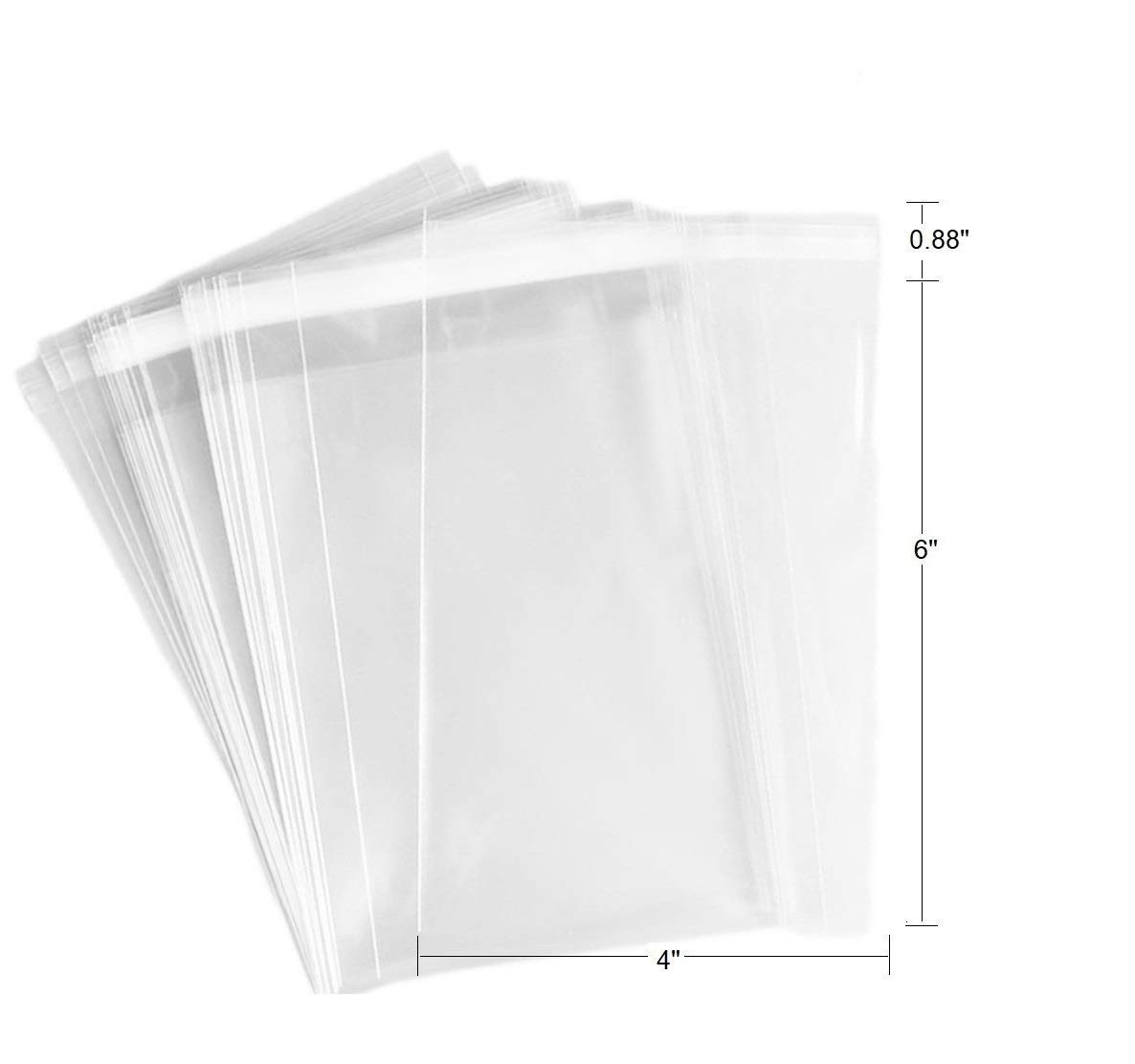 FlanicaUSA 100 pcs 4 x 6 2 Mil Clear Flat Resealable Cello/ Cellophane Bags Good for Bakery, Candle, Soap, Cookie,jewelry items bags.